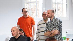 Mirko Schramm mit anderen Mentoren. Foto: Tollwerk.